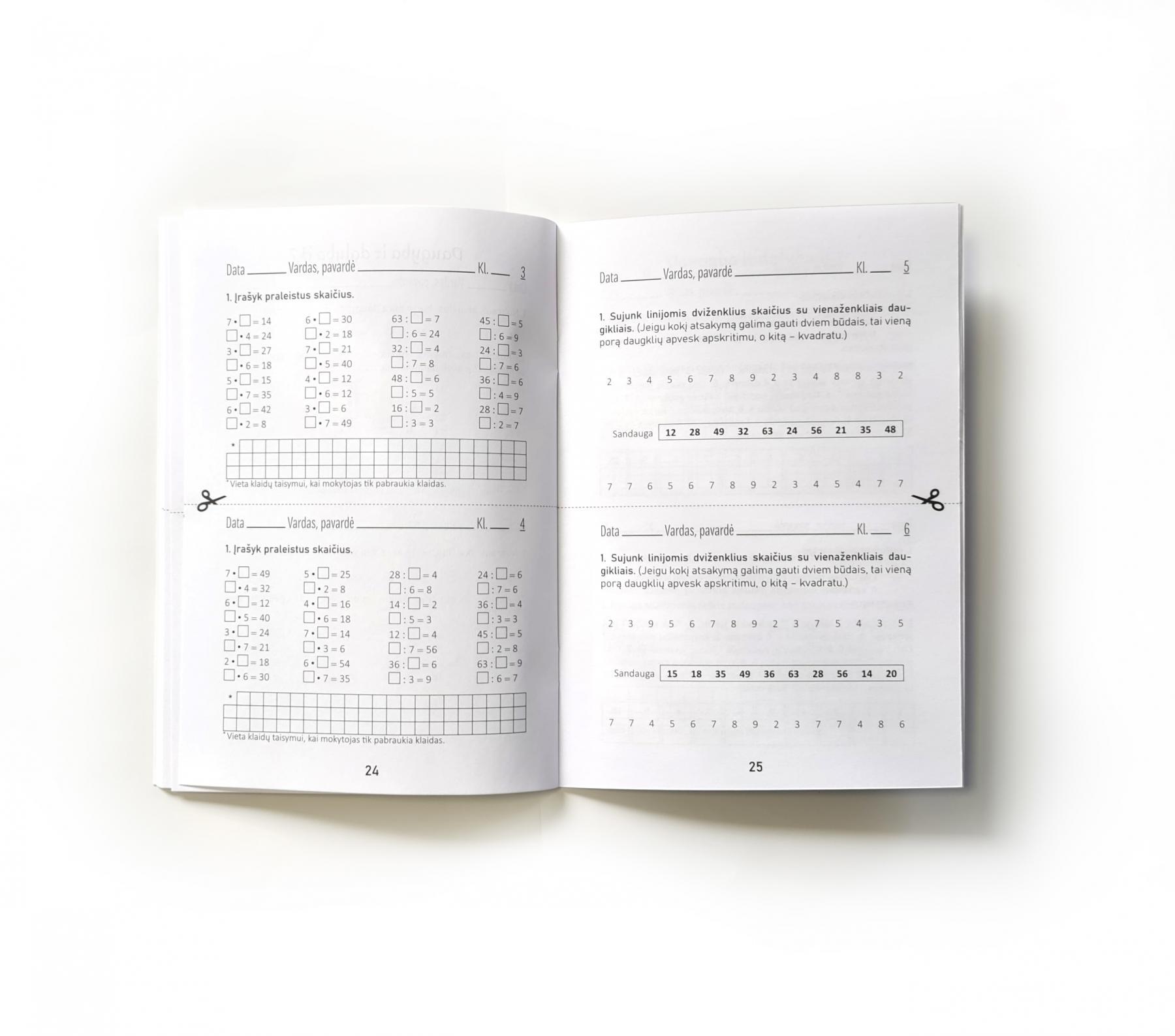Tikriname daugybos lentelės žinias | Reda Jaseliūnienė
