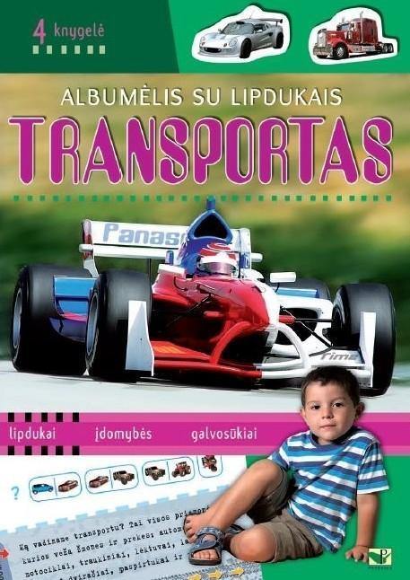 Albumėlis su lipdukais. Transportas 4, knygelė - | Patogupirkti.lt