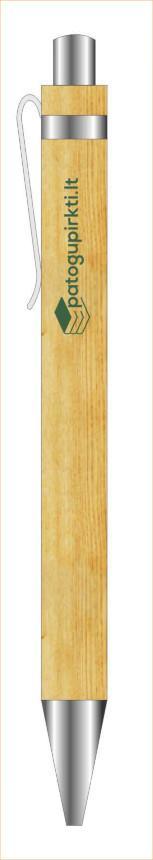 Tušinukas (bambukinis su žaliu logotipu) |