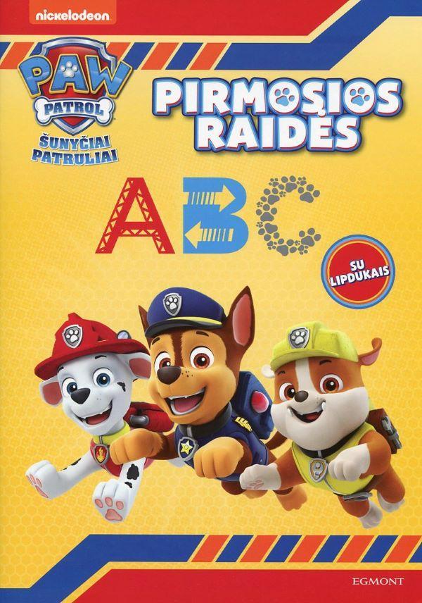 Šunyčiai patruliai. Pirmosios raidės (su lipdukais) |