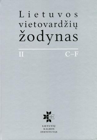 Lietuvos vietovardžių žodynas (II tomas) |