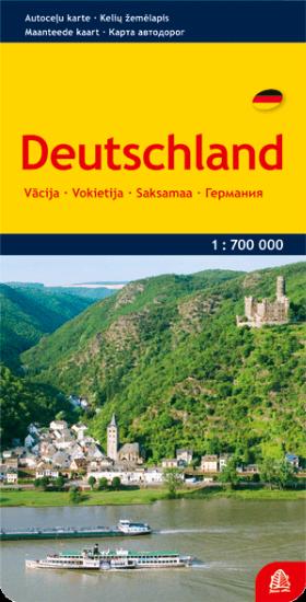 Vokietija. Kelių žemėlapis  