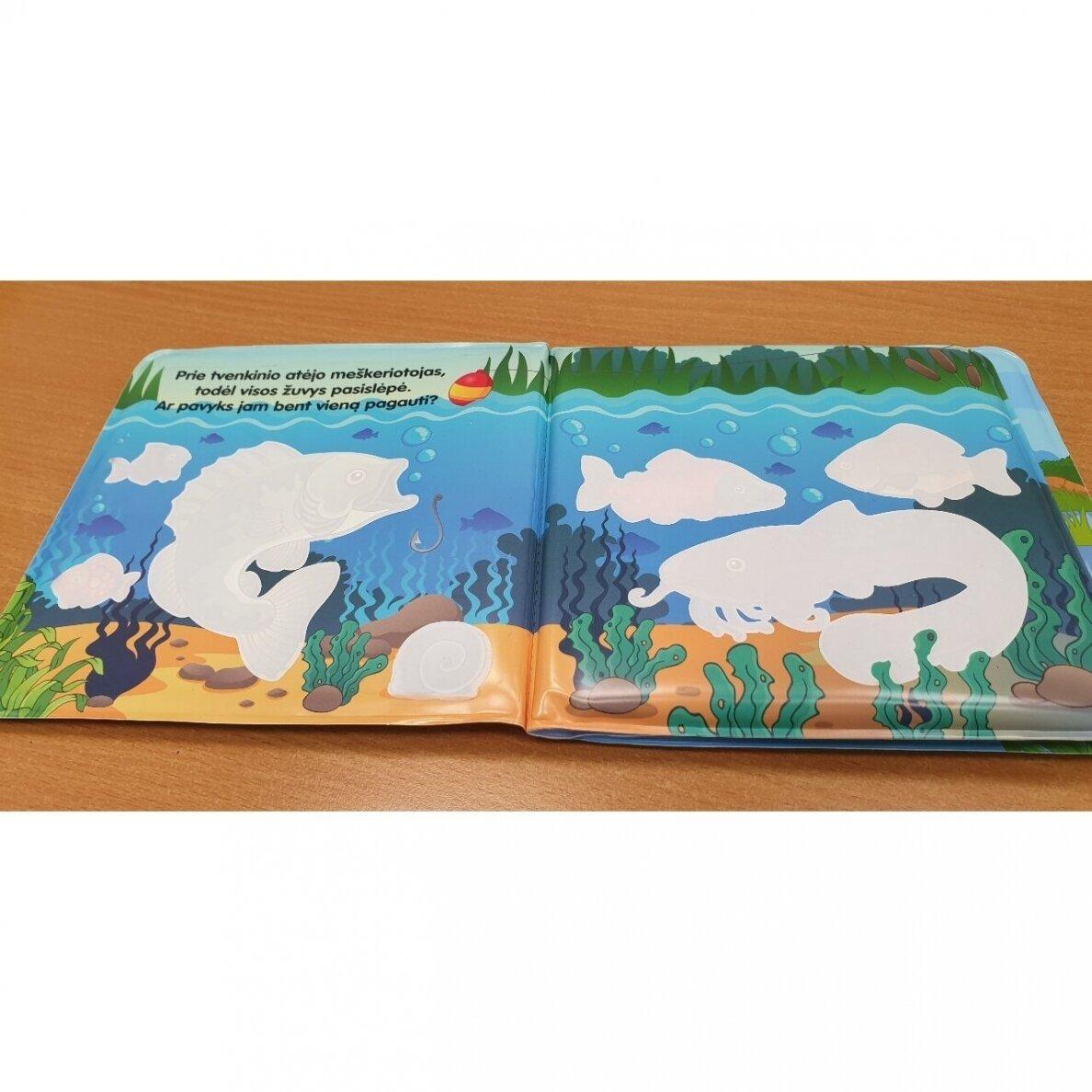 Vonios knygelė. Smagu plaukti. Nuspalvink vandeniu! |