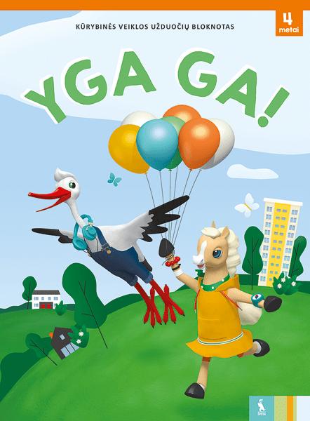 YGA GA! Kūrybinės veiklos užduočių bloknotas | Ramunė Burškaitienė