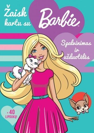Žaisk kartu su Barbie. Spalvinimas ir užduotėlės |