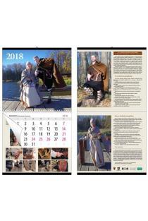 2018 m. sieninis kalendorius su senovės lietuvių kostiumais  