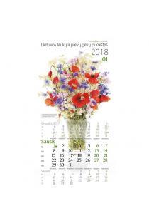 Laukų ir pievų gėlių puokštės. 2018 metų kalendorius  
