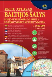 Eesti. Latvija. Lietuva. Kaliningradskaja oblast. Kelių atlasas 1:600000 |