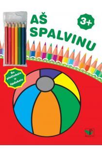 Aš spalvinu 3+. Su pieštukais ir lipdukais |