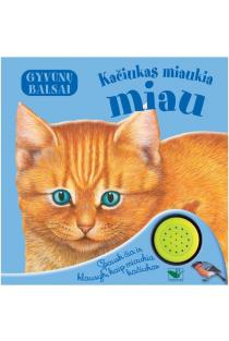 Gyvūnų balsai. Kačiukas miaukia miau |