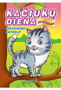 Kačiukų diena. Spalvinimo knygelė su lipdukais |
