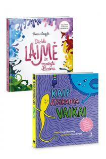 KOMPLEKTAS. Paveikslėlių knygos SUŽINOK! Didelė Laimė ir mažytė Baimė + Kaip atsiranda vaikai |