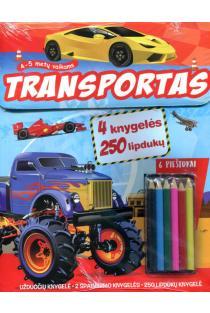 Transportas. Knygelių rinkinys ir 6 spalvoti pieštukai |