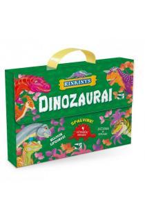 Dinozaurai. Lagaminėlis su rankenėle (rinkinyje 4 knygos) |