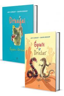 KOMPLEKTAS. 7-10 metų vaikams apie DRAUGYSTĘ. Gyvatė ir Driežas (2 knygos) | Gavin Bishop, Joy Cowley