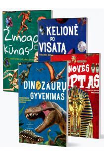 KOMPLEKTAS. Pažinimas: Žmogaus kūnas + Kelionė po Visatą + Dinozaurų pasaulis + Senovės Egiptas |