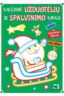Kalėdinė užduotėlių ir spalvinimo knyga su lipdukais ir kartoninėmis figūromis (3-5 metų vaikams) |