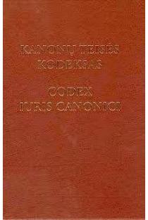 Kanonų teisės kodeksas. Codex Iuris Canonici |