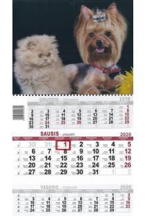 2020 metų kalendorius (3D Šuo su kate) |