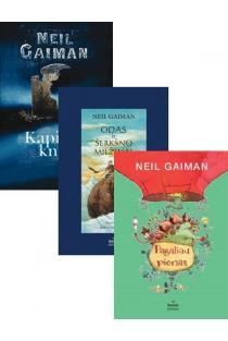KOMPLEKTAS. Neilas Gaimanas vaikams: Kapinių knyga + Odas ir šerkšno milžinai + Pagaliau pienas | Neil Gaiman
