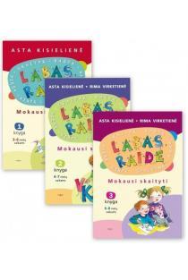 KOMPLEKTAS. Labas, raide. Mokausi skaityti (1, 2 ir 3 knyga) | Asta Kiselienė, Rima Virketienė