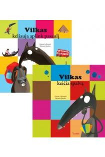 KOMPLEKTAS. Vilkas keičia spalvą + Vilkas keliauja aplink pasaulį | Orianne Lallemand, Eléonore Thuillier