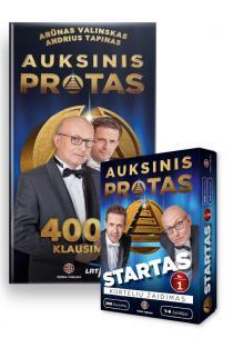 KOMPLEKTAS. Auksinis protas. Startas + Auksinis protas. 4000 klausimų (kortelių žaidimas + knyga) | Andrius Tapinas, Arūnas Valinskas