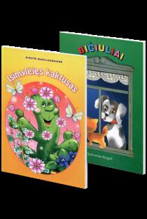 KOMPLEKTAS. Skaityk ir spalvink. Bičiuliai + Gaisras (dvi knygutės 3-5 metų vaikams) |
