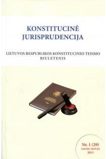 Konstitucinė jurisprudencija nr. 1 (29) |