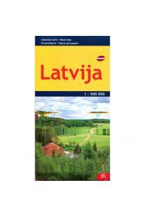 Latvia. Kelių žemėlapis |