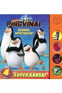 Madagaskaro pingvinai. Žiūrėk, mygtukas! |