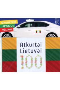 Magnetinė Lietuvos vėliava (su šimtmečio logotipu baltame fone) |