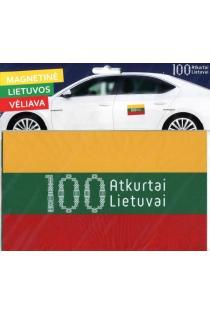 Magnetinė Lietuvos vėliava (su šimtmečio logotipu žaliame fone) |