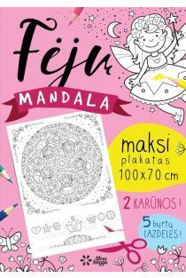 Fėjų mandala. Maksi spalvinimo plakatas | Inga Dagilė