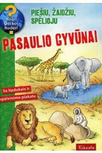 Pasaulio gyvūnai. Su lipdukais ir spalvinimo plakatu |
