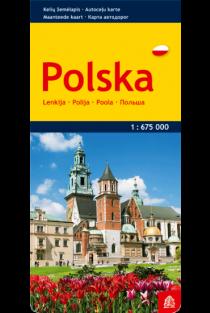 Lenkija. Kelių žemėlapis |