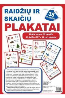 Raidžių ir skaičių plakatai (35 standūs A3 formato plakatai) |