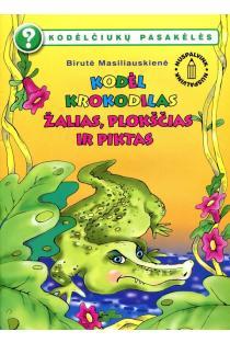 Kodėlčiukų pasakėlės. Kodėl krokodilas žalias, plokščias ir piktas? (nuspalvink) | Birutė Lenktytė-Masiliauskienė