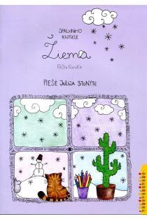 Žiema. Spalvinimo knygelė piešta ranka | Julija Stonytė