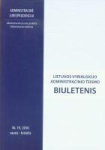Lietuvos vyriausiojo administracinio teismo biuletenis nr. 19  