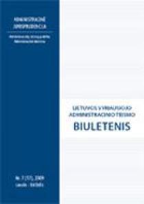 Lietuvos vyriausiojo administracinio teismo biuletenis Nr. 7 (17)  