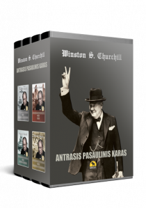 Antrasis pasaulinis karas. 4 tomų kolekcinis rinkinys dėžutėje | Winston S. Churchill