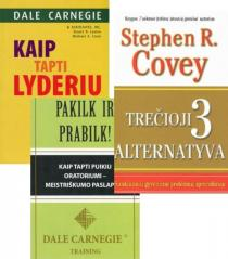 KOMPLEKTAS. Lyderystė pagal Dale Carnegie: Kaip tapti lyderiu + Pakilk ir prabilk + DOVANA Trečioji alternatyva   Dale Carnegie