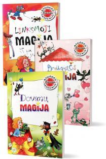 KOMPLEKTAS. Magiškoji Pipirinos akademija: Dovanų magija + Draugystės magija + Linksmoji magija | Birutė Lenktytė-Masiliauskienė