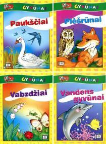 KOMPLEKTAS. Peliuko pamokėlės. Gyvūnai. Užduočių knygelės 4-7 m. vaikams: Paukščiai + Vabzdžiai + Vandens gyvūnai   Birutė Lenktytė-Masiliauskienė
