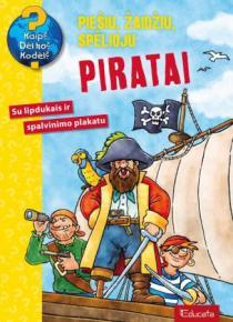 Piratai. Su lipdukais ir spalvinimo plakatu (serija