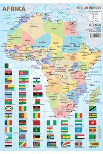 Afrikos politinis žemėlapis (su šalių vėliavomis, A4) |