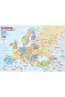 Europos politinis žemėlapis (su šalių vėliavomis, A4) |