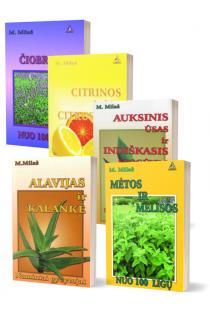 KOMPLEKTAS. Gydomės vaistiniais augalais. Liaudies medicinos žinovė Marija Milaš pataria (5 knygos) | Marija Milaš