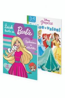 KOMPLEKTAS. Užduotėlės ir spalvinimas MERGAITĖMS. Princesė. Paišau ir valau! + Barbė. Žaisk kartu su Barbe |